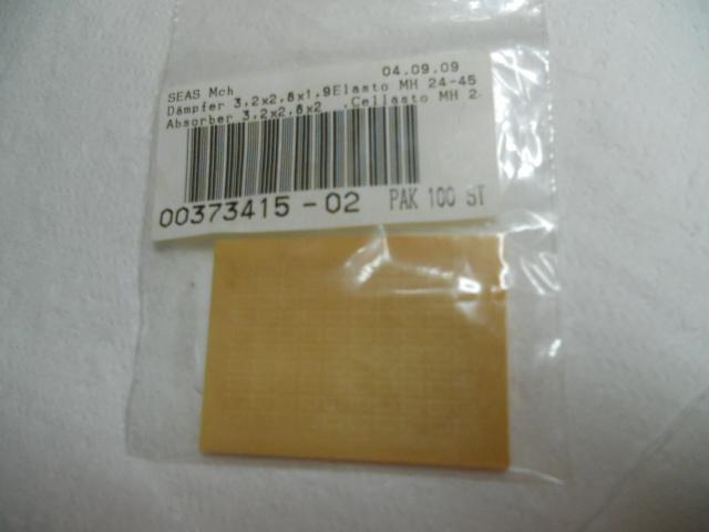 Absorber 3.3 x 2.8 x 2 cellasto MH 24-45